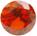 Zirkonia Orange 5mm facettslipad rund.