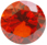 Zirkonia Orange 6mm facettslipad rund.