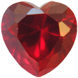 Zirkonia rubinröd 14x14 hjärta