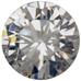 Zirkonia vit 9 mm rund brilliantslipad