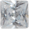 Zirkonia vit 6x6 kvadrat