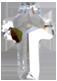 Zirkonia kors 8x11 vit
