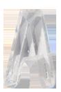Zirkonia vit bokstav A, 15x10 mm