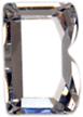 Zirkonia vit bokstav B, 15x10 mm