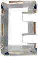 Zirkonia vit bokstav E, 15x10 mm