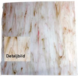 Fusingglas klart-aventurin-rött 25x25 cm, 3-4 mm tjockt