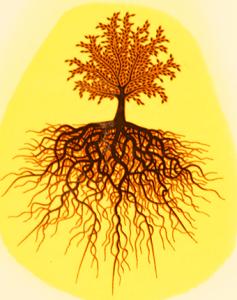 Dekal Livets träd silver metallic och svart ca 5 x 4 cm. Högtemperaturdekal.