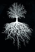 Dekal Livets träd i vitt.Ca 5x4 cm. Blir en vit siluett och passar på mörkare glasfärger.