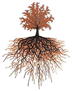 Dekal Livets träd med guld och svart  ca 5x4 cm. Högtemperaturdekal.