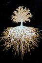 Dekal Livets träd guld och vitt ca 5 x 4 cm. Högtemperaturdekal.