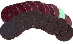 Sliprondell 19mm Finkornig och Medelgrov, 10 st av varje med hål för mandrel EUBRS275-2