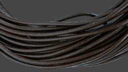 Läderrem 2 mm brun. Pris per meter.