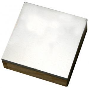 Flackjärn Stålblock för att hamra mot (med träunderdel)  7,5 x 7,5 cm.