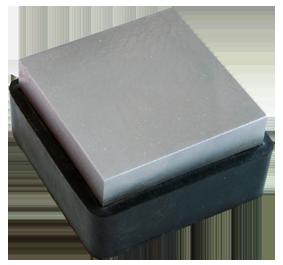 Flackjärn Stålblock med gummistöd 5x5 cm, vändbart