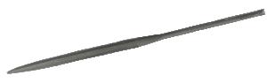 Fil halvrund hugg 4, med dubbelgrad 16 cm lång och texturerat skaft.