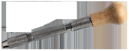 Borrhållare m träknopp, för borr i olika dimensioner från 0,5 mm till 3 mm
