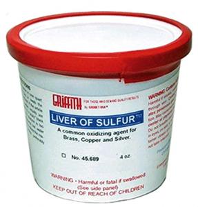 Leversulfat torr i bitar. Oxidationsmedel för silver, mässing, koppar, brons