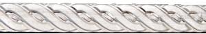 """Sarg eller dekorband 6,4 mm brett """"rep"""" 0,8 mm Sterlingsilver"""