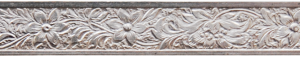 Sarg eller dekorband 6,4 mm bred, blommor 0,9 mm Sterlingsilver
