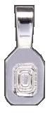 Hänge små 16 mm försilvrade att limma på baksidan av ett smycke.