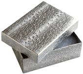 Presentask silverfärgat papper 80x50x25 mm. Priset avser 4 stycken