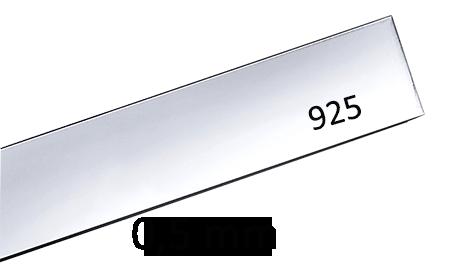 Sterling silverplåt 0.5 mm. Välj bredd och längd. Pris inklusive moms.