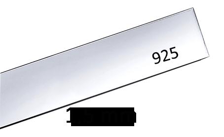 Sterling silverplåt 1.5 mm. Välj bredd och längd. Pris inklusive moms.