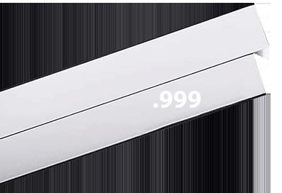 Finsilverplåt 999 0,8 150mm Välj bredd