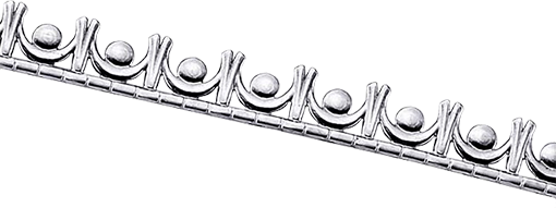 Sarg eller dekorband Argentium 935, 5,4 mm brett silver, 0,66 tjockt. Köps per 10 cm.