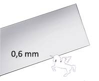 Silverplåt Argentium 935, 0,6mm Välj bredd och längd. Pris inkl. moms.