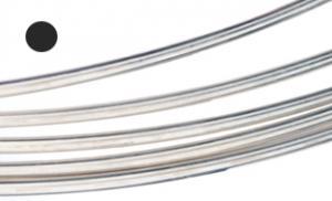 Silvertråd Argentium rund 2,6 mm. Pris per 10 cm.