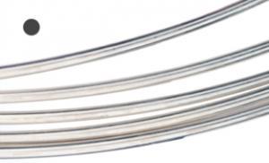 Silvertråd Argentium rund 1 mm, mjuk. Välj längd. Billigare från 2 meter