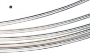 Silvertråd Argentium rund 0,5 mm, standard. Välj längd. Billigare från 4 meter