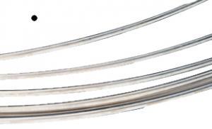 Silvertråd Argentium rund 0,3 mm mjuk. Priset är per meter.