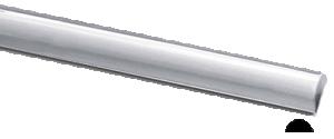 Silvertråd Argentium *) 1 mm, halvrund, mjuk. Välj längd. Pris per meter.