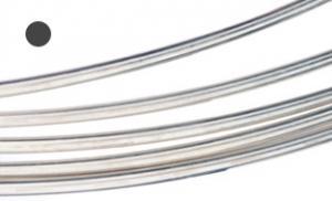 Silvertråd Argentium rund 1,3 mm. Pris per meter.