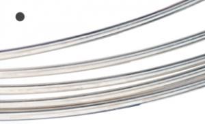 Silvertråd Argentium rund 0,8 mm mjuk. Välj längd.