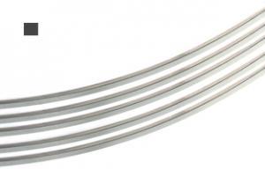 Silvertråd Argentium 4-k 0,7 mm fyrkant. Halvhård. Per meter