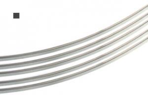Silvertråd Argentium 4-k 0,6 mm fyrkant. Halvhård.Välj längd.