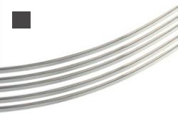 Silvertråd Argentium 4-k 1,0 mm fyrkant. Standardmjuk. Pris per 0,5 meter