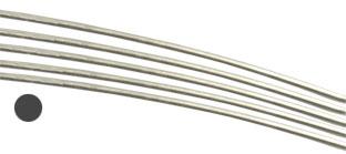 Silvertråd Sterling Silver-Filled* 1 mm rund. Halvhård