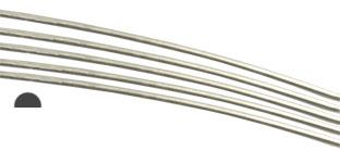 Silvertråd Sterling Silver-Filled* 1mm halvrund