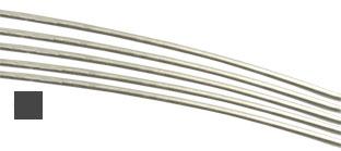 Silvertråd Sterling Silver-Filled 4-k 0,8 mm fyrkant halvhård. Säljs per meter