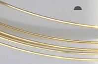 Gold filled tråd 1 mm, halvrund, mjuk. Pris per halv meter.