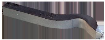 Stämpel silverhalt för Argentium 935 i stål. Böjd för att komma åt även i ringar