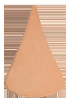 Koppar droppe 33 x 22 mm, 1 mm tjock.