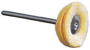 Polertrissa microfiber/konstläder 22 mm. Med mandrel 2.3 mm. Passar de flesta maskiner.