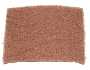 Skrubb- och rengöringsmatta. Original 3M Bright Pad brun icke vävd rengöringsmatta.