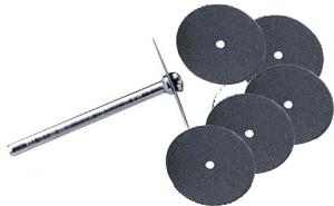 Slipa plant eller skär ett extra tunt snitt, 5 stycken extra tunna 0,24 mm skärande skivor. En styv slipskiva med slipkorn på båda sidor