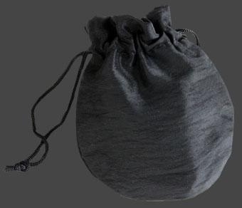 Smyckepåse Satin-Weave svart ca 7,5 x 10 cm.